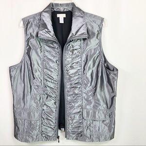 Chico's | Women's Gray Vest Size 3
